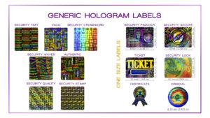 Generic Hologram Labels