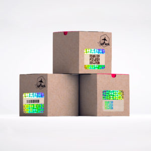Sequential QR Codes on Boxes
